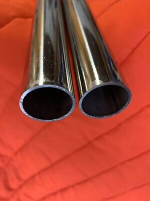 1- Polished 600 Grit Stainless Steel Round Tube - 1 X .065 X 45