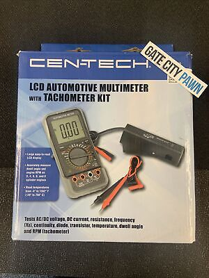 Cen-tech Lcd Automotive Multimeter With Tachometer Kit -lcd Display- 95670