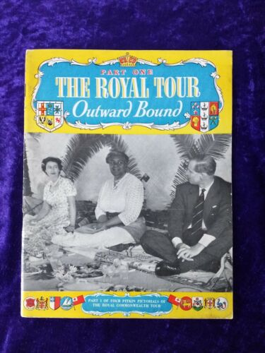 1954 Royal tour of the Commonwealth vintage book