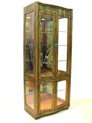 "1970s Drexel ""Grand Villa""  Illuminated Display Cabinet, Excellent Condition"