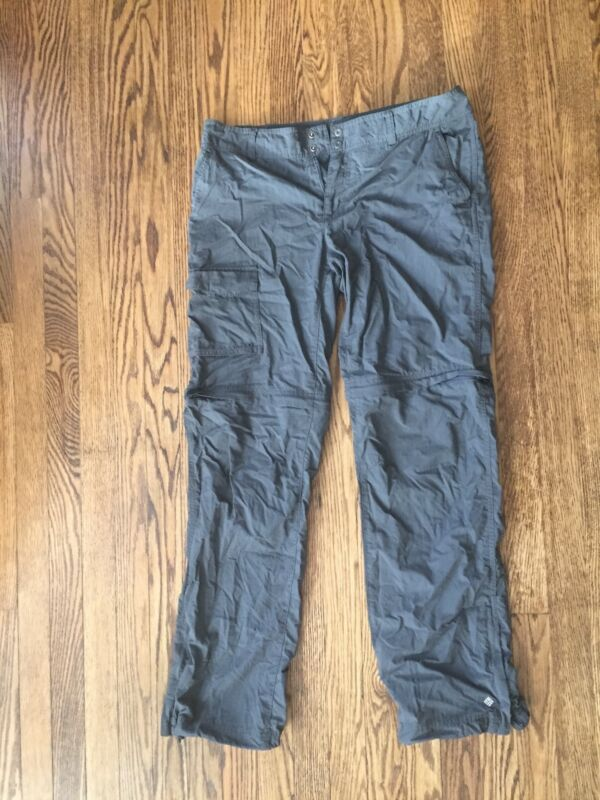 Women's Columbia Gray Nylon Hiking Pants/short, Size 12 Regular