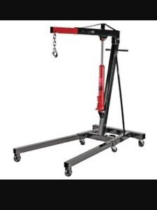 2 Ton Engine Lift w/ Engine Stand - Used Once!!