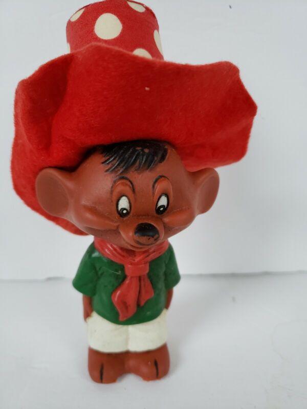 Rare Vintage Speedy Gonzales Rubber Squeak Toy Warner Bros Dakin Looney Tunes