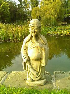 STONE GARDEN CHINESE WARRIOR MAN ORIENTAL JAPENESE STATUE ORNAMENT