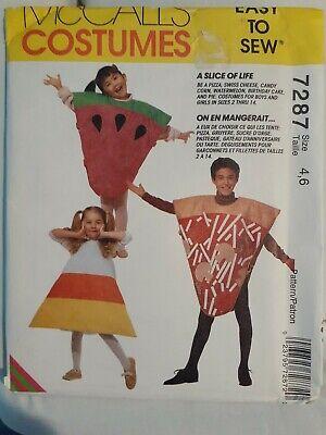 McCall's 7287 Easy Sew Food Halloween Costume Pattern, Boy's & Girl's -