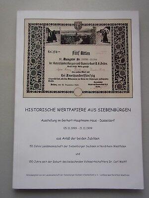 Historische Wertpapiere aus Siebenbürgen Ausstellung Düsseldorf