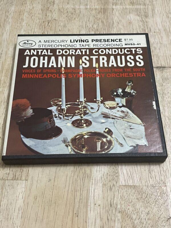 Music Of Johann Strauss Dorati Reel to Reel Tape 7 1/2 IPS Mercury Two Track