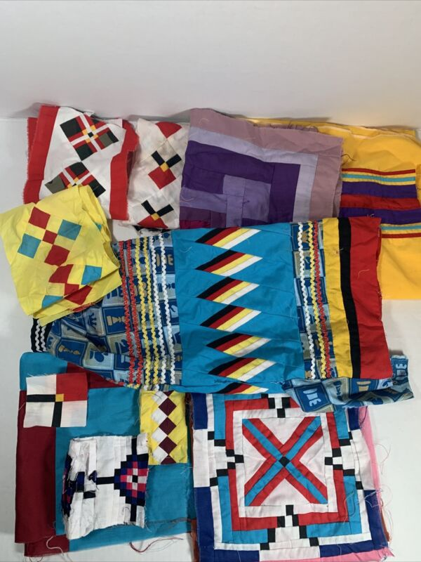 Vintage Native American Patchwork Pieces And Scraps For Parts Read Description