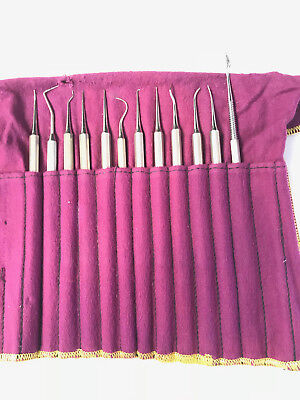 Dental Tools Set Of 12 Piece Stainless Steel Waxing Instruments