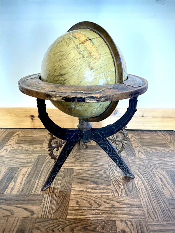 National School Furniture Co 1868 Terrestrial Globe / World Globe