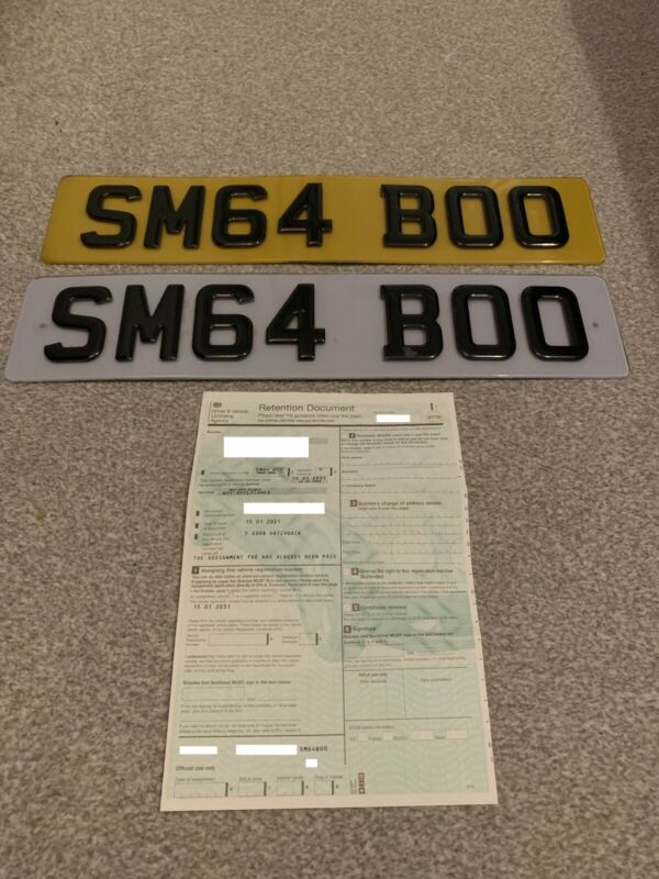Private+Number+Plate+-+SM64+BOO+-+Retention+Fee+Paid+-+3D+Gel+Plates+Included