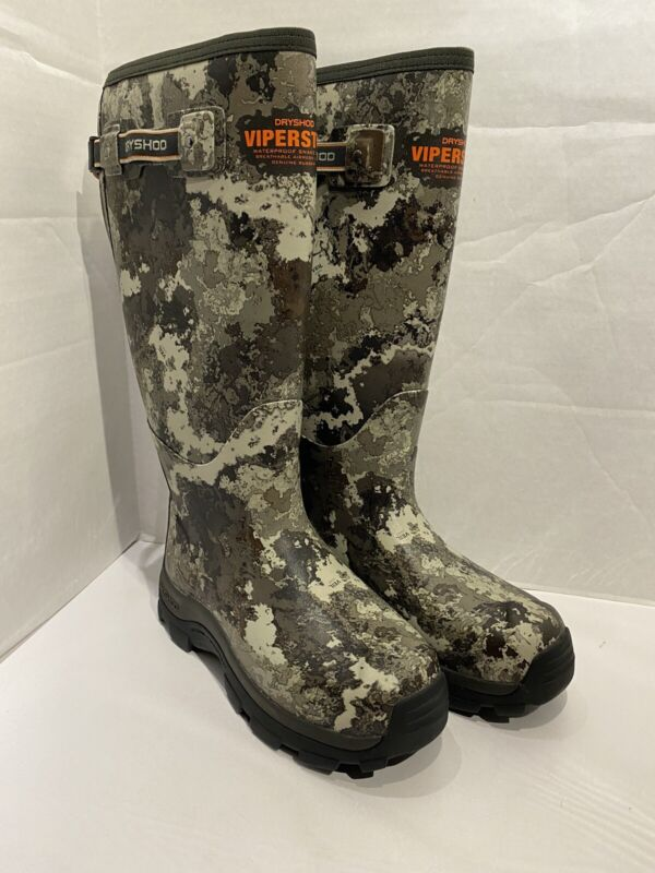 Dryshod ViperStop Snake Hunting Boot VEIL Camo With Gusset Size 8 VPS-MH-CM
