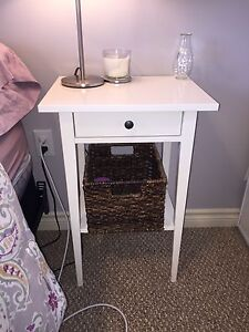 Ikea white side table