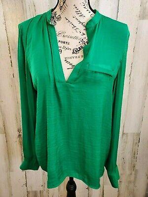 Zara Women's Green Long Sleeve Button Down Blouse Size Medium