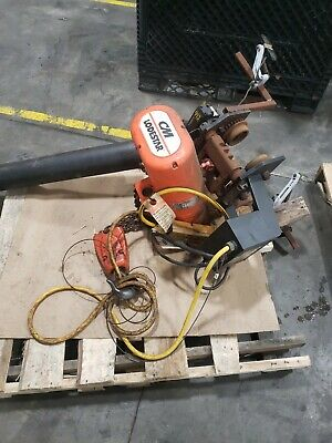 Cm Rrt 3 Ton Lodestar Chain Hoist W 635 Motor Driven Trolley 11 Fpm