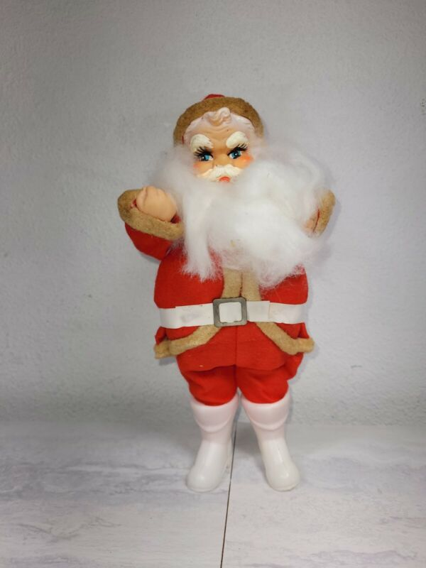 Vintage Made in Japan Santa Claus Doll Figure Christmas 1950s to 1960s 10 inches