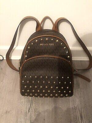 Michael Kors Brown Leather Studded Backpack 100% Genuine