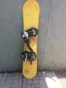 Burton FS bindings and illusion snowboard ONLY $100!