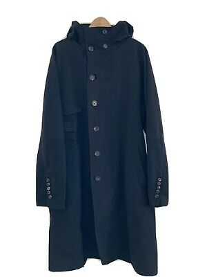 Ziggy Chen Black Wool Overcoat Size 48