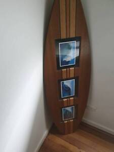 Surfboard Wood Wall Painting Excellent Condition