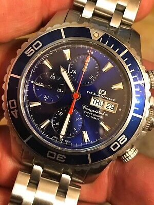 OCEANAUT SWISS MADE CONQUISTADOR 25 JEWEL AUTOMATIC CHRONOGRAPH VALJOUX 7750