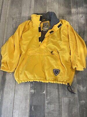 Vintage Abercrombie Fitch Fleece Lined Quarter Zip Ski Jacket Yellow LG