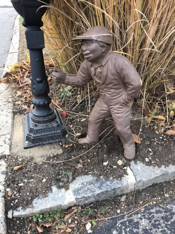"Large Antique 24""  Cast Iron Lawn Jockey"