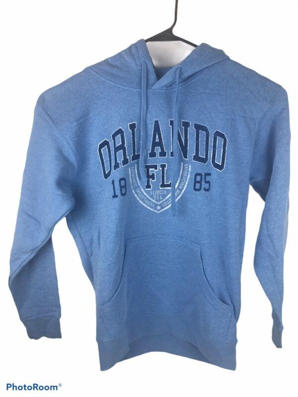 Point Sportswear Unisex Medium Blue Orlando Florida Long Sleeve Hoodie