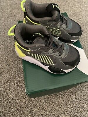 Puma RS-X Hard Drive Infant Trainer Size UK4/EU21 Grey And Electric Colour