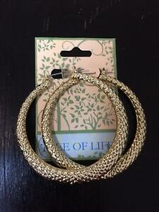 Tree of Life Gold Hoop Earrings Oatlands Parramatta Area Preview