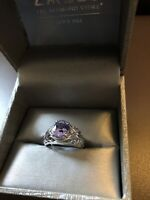 Tanzanite and Diamond White gold ring 5.5 appraised much higher