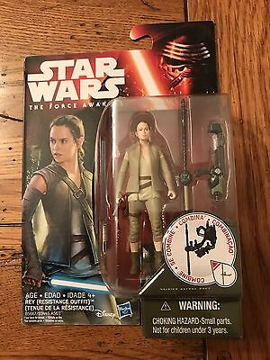 Hasbro Star Wars The Force Awakens REY RESISTANCE OUTFIT Figure 3.75""
