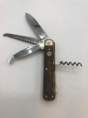 Vintage Antique Boker Bone Stag Jack Pocket Knife