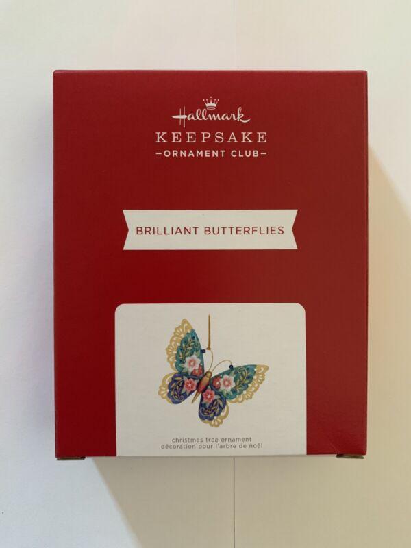 2021 HALLMARK ORNAMENT Event Club Brilliant Butterflies Exclusive Repaint MIP