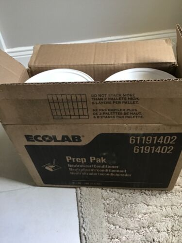 2-EcoLab Prep Pak Water Soluble Floor Neutralizer/Conditioner 90 Pouches 6191402
