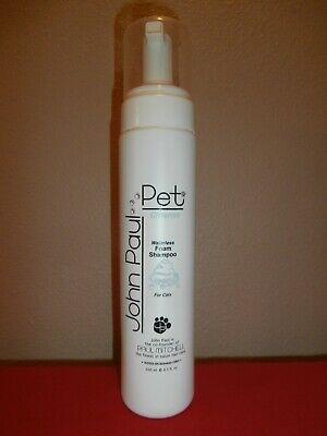 John Paul PET CLEANSE Waterless Foam Shampoo FOR CATS 8.5 oz ~ FREE SHIPPING John Paul Pet Cat Shampoo