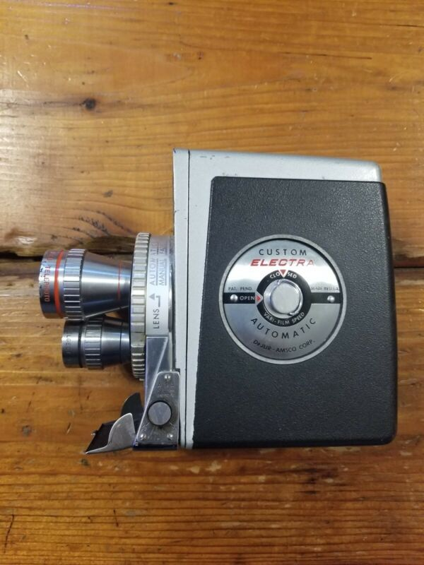 DeJur Electra 3 Lens Vintage Camera 8mm 1958