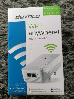 Devolo dlan 1200+ wifi anywhere adapter NEW booster