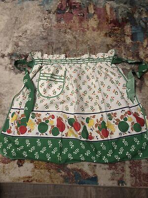 Vintage Aprons, Retro Aprons, Old Fashioned Aprons & Patterns vintage half apron Cotton Tie Back $2.99 AT vintagedancer.com