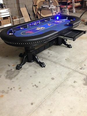 "Deluxe 48""x96"" custom built poker tables by kandjpokertables.com"