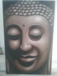 BALINESE BUDDHA CANVAS PAINTING EXTRA LARGE Bayview Pittwater Area Preview