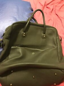 Beautiful large grey leather bag . Nearly new MADE IN ITALY!!