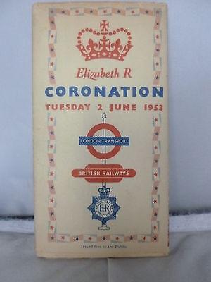 London Transport - British Railways - Coronation 1953 - Folding Colour Map