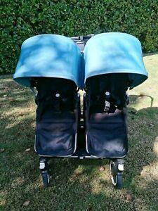 Immaculate Bugaboo Donkey Twin Duo Pram Stroller