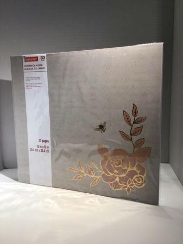 Craft Smart Scrapbook Album12x12 Rose and bee photo album. 30 Pages. New