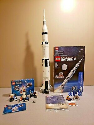 LEGO 21309 NASA Saturn V & 21312 Women of NASA- 100% Complete,box,manual