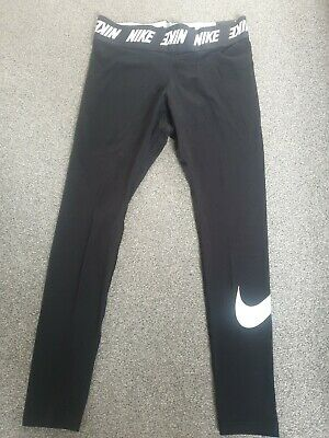 Nike Womens Leggings Running Yoga Pants Ladies Sports Training  Black size L