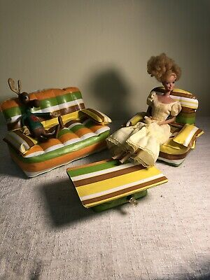 Vintage 1970's Barbie See Puff & Play inflatable Living Room furniture 3 pc
