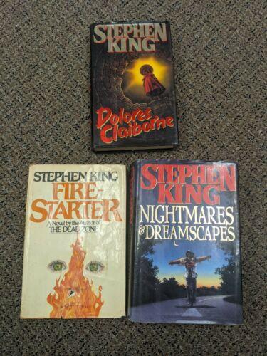 Stephen King 3 Book Lot HC 1st Printings Nightmares Firestarter Claiborne VG  - $13.00