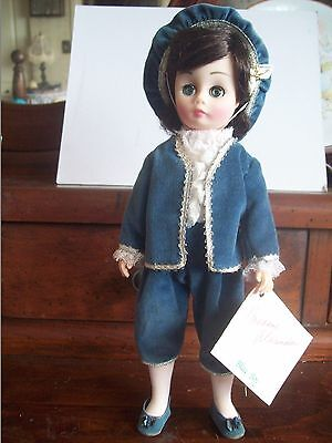 """MADAME ALEXANDER 12"""" DOLL """"BLUE BOY""""  #1346 with BOX and special Wrist Booklet"""